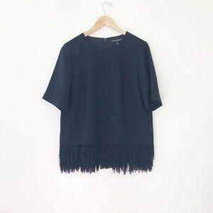 NEW Banana Republic Black Fringe Top Size Medium